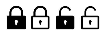Lock vector icon. Security symbol. Lock web button design. Security system. Vector isolated lock icon. EPS 10 向量圖像
