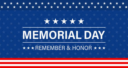 Memorial day background. Vector isolated illustration.  Greeting card banner or poster design. Ilustrace