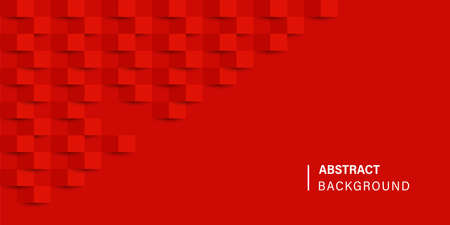 Geometric cube red background. Abstract background texture. Vector abstract background. Banner poster advertising design. EPS 10 Stock fotó - 154998483