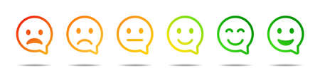 Smile face speech bubble icon. Black vector isolated emoji collection. Customer feedback concept.
