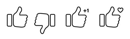 Thumb up thumb down linear icon. Like vector isolated icon. Thumb up. Like. Stock vector. EPS 10 向量圖像