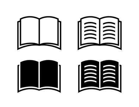 Book icon. Vector isolated book sign collection. Simple book symbol. EPS 10