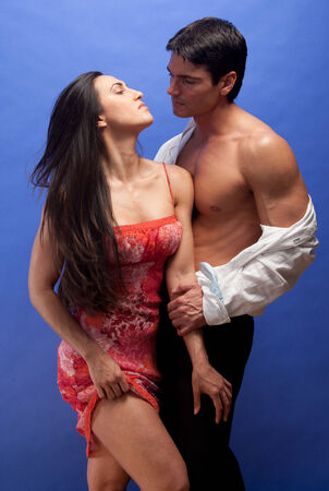 lustful: exotic couple Stock Photo