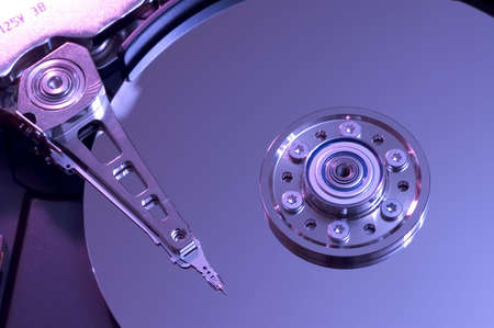 Hard disk drive with its cover open photo