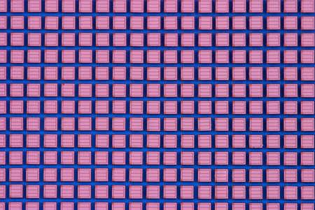 macroshot: Microchup crystals macroshot against blue background Stock Photo
