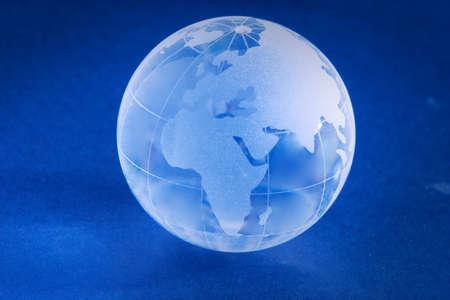 Little blue glass globe photo