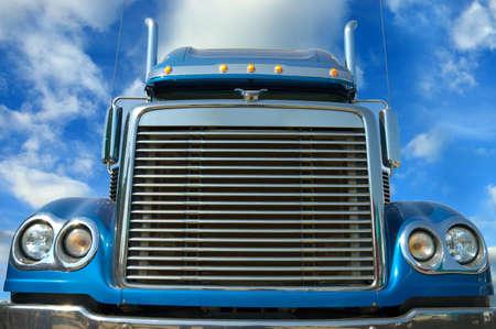 trucks: American truck. Vivid under sunlight.