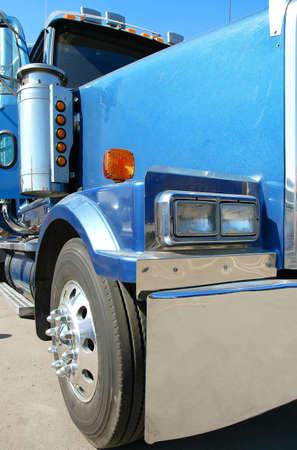 American truck. Vivid under sunlight.