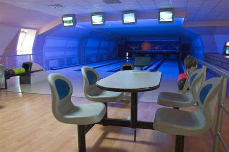 Bowling club interior