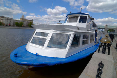 River boat on Moscow River Stock Photo