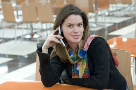 Beautiful lady speaking on the mobile phone