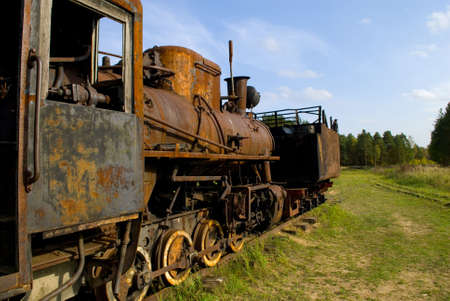 Old rusty steam train