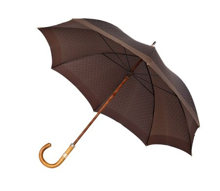 Opened classic umbrella isolated on white background photo