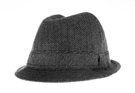 Isolated gray felt hat Stock Photo - 18104429