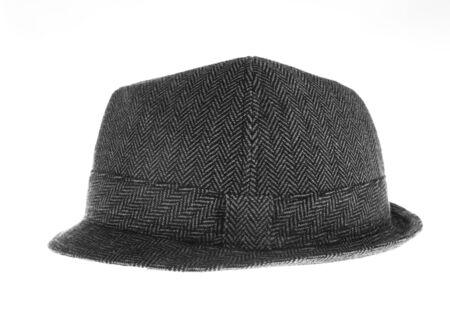 Isolated gray felt hat Stock Photo - 18104428