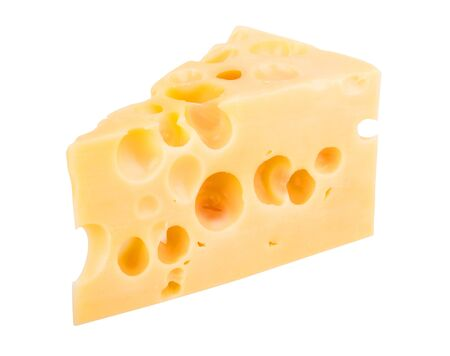 edam: Isolated cheese chunk
