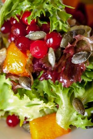 Fresh salad on a plate photo