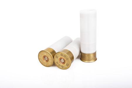 45 ammo: ammunition bullets isolated on white