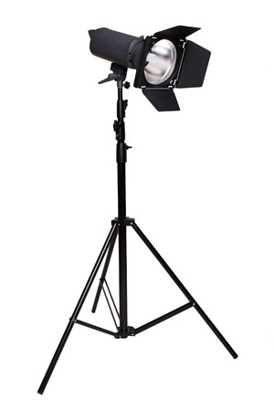 lamp stand: Studio lighting isolated on white