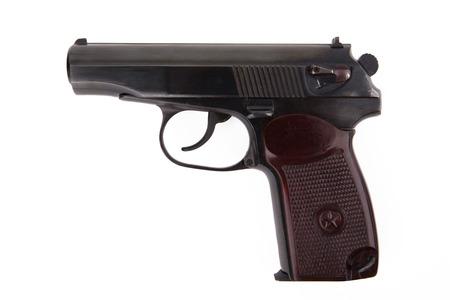 Soviet 9mm makarov handgun isolated on white background photo