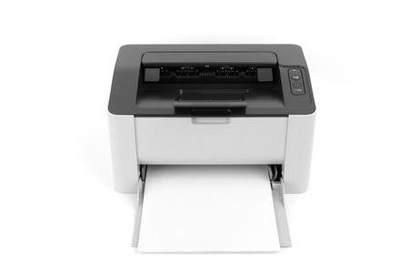 typer: Laser printer isolated on white background
