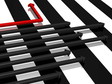 monotony: The life is alternation of black and white strips. And it can be possible to change the life so that to move only on a white strip?