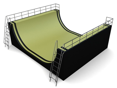 Ramps extremes for dizzy jumps, a close up on a white background