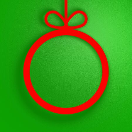 Christmas background, red ball with a place for your text.
