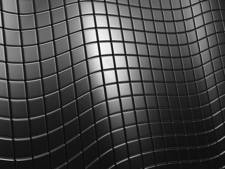 Abstract steel tile wave background with reflection  Stock Photo