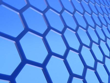 Graphene. Two-dimensional hexagonal crystal lattice formed by a layer of atoms of carbon in the thickness in one atom.