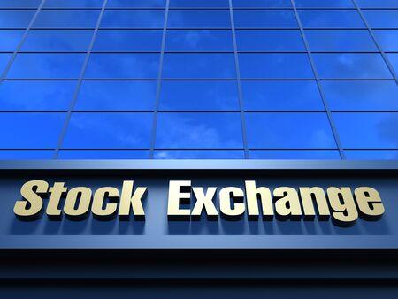 stock exchange: Stock Exchange building. Modern building with an inscription Stock Exchange on a facade. Stock Photo