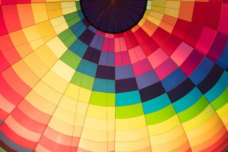 balloon view from inside close-up multicolored material