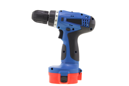 tool chuck: Cordless drill without drill bit. Stock Photo