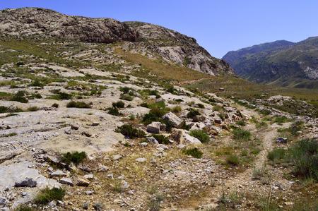 kyrgyzstan: Paisaje de monta�a, zona Kadamzhay, Kirguist�n