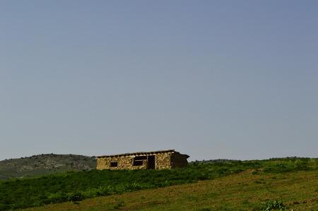 sheepfold: Old sheepfold in the mountains, Sartaly, Kyrgyzstan