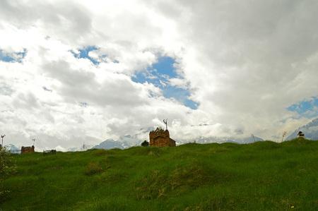 kyrgyzstan: Antiguo cementerio en Kirguistán, Asia Central Foto de archivo