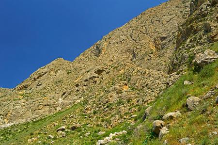 kyrgyzstan: Paisaje de montaña, zona Kadamzhay, Kirguistán