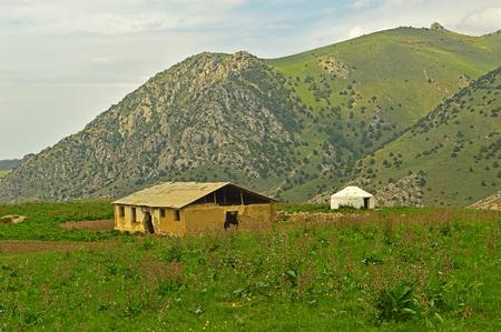 sheepfold: Old sheepfold in the mountains, Khaidarkan, Kyrgyzstan