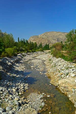 kyrgyzstan: River in the mountains, Kadamzhay area, Kyrgyzstan