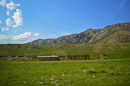 sheepfold: Old sheepfold in the mountains, Haidarkan area, Kyrgyzstan