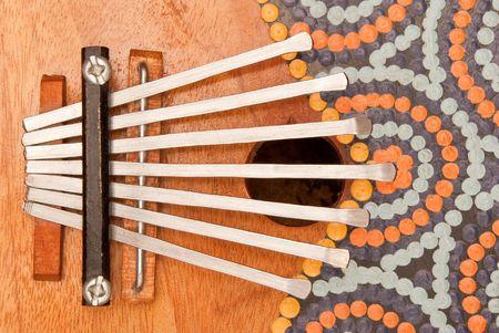 etnic: traditional african musical instrument kalimba
