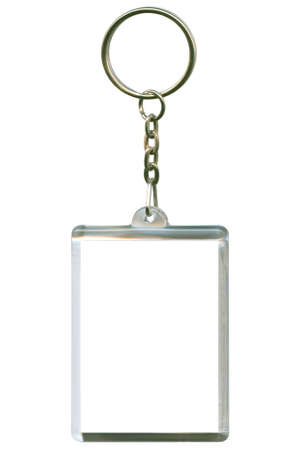 keychain: keychain as a frame with space for text or illustrations Stock Photo