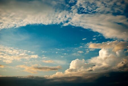 cloudscape: sky with a lot of clouds