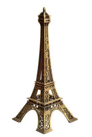 souvenir Torre Eiffel isolato su sfondo bianco  Archivio Fotografico - 7379414