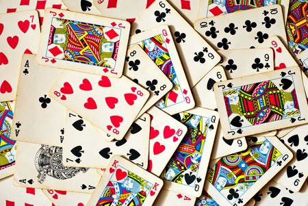 background made of playing cards Stock Photo - 8001155