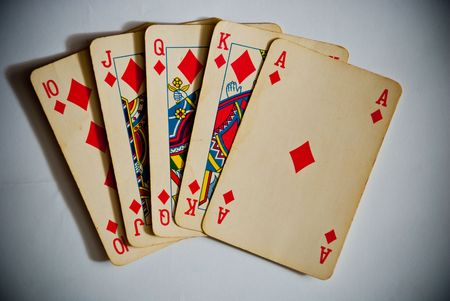 playing cards showing royal flush Stock Photo - 8001049