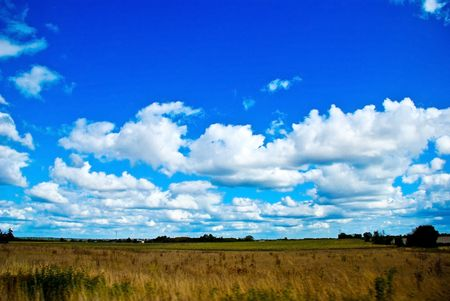 beautifull landscape with sky and meadow photo
