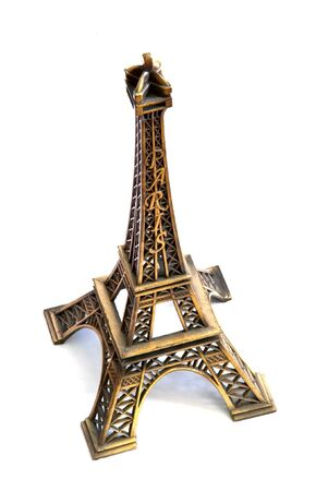 souvenir Eiffel Tower isolated on white background photo