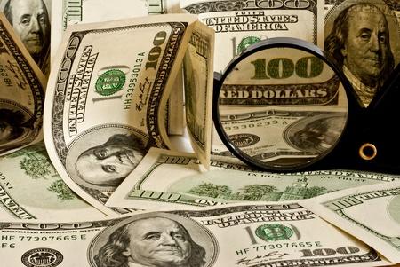 concept background of dollar bills Stock Photo - 8522003