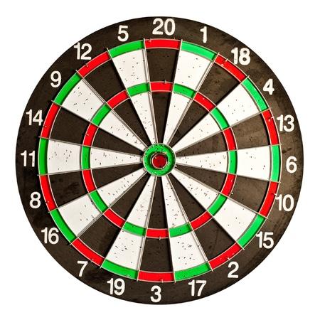 dartboard isolated on white background Stock Photo